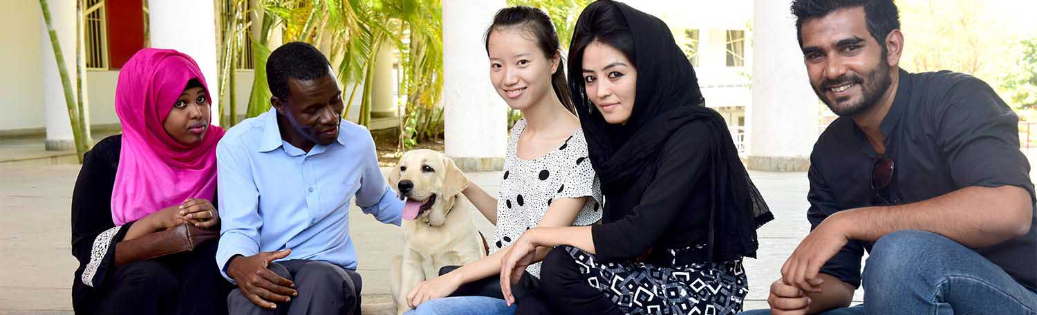 Pet Therapy for students at Symbiosis International University