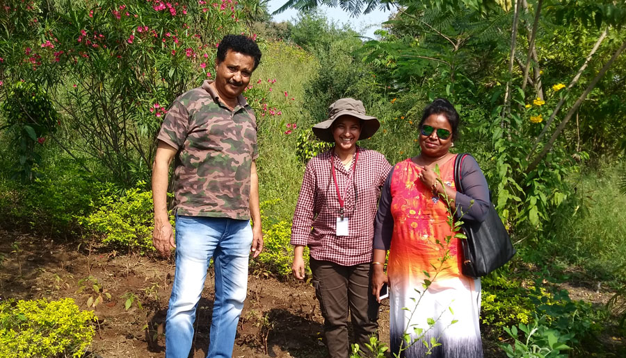 Mr. Isaac Kehimkar and Dr.Shubhalaxi renowned butterfly and moth experts were consulted for developing butterfly gardens on the campus